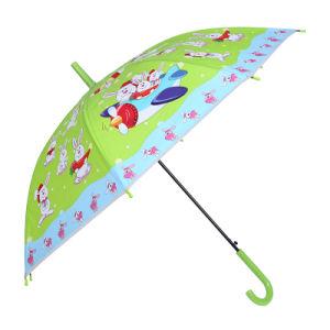Auto Open Rabbit Printing Green Children Umbrella (SK-02) pictures & photos