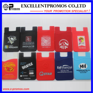 Custom Logo Silicone Mobile Phone Card Holder (EP-H58403) pictures & photos