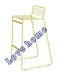 Modern Metal Dining Stackable Side Wire Bar Chair pictures & photos