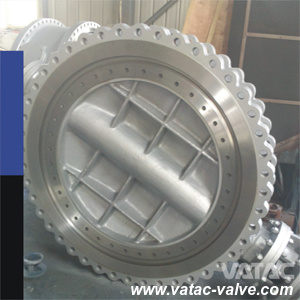 Triple-Offset CF8/F304/Ss304 Fully Lug EPDM Seat Butterfly Valve Gear pictures & photos
