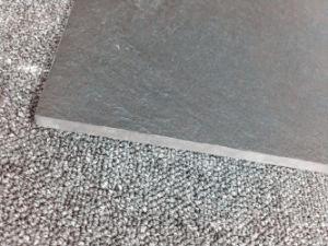 Slate Supper Black and White Porcelain Polished Tile (6SB50U) pictures & photos