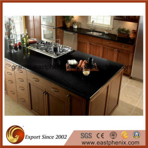 Black Quartz Stone Kitchen Countertop pictures & photos