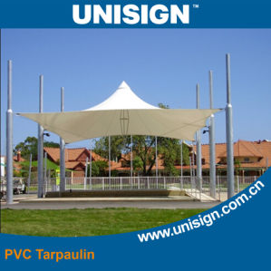 Anti-UV PVC Coated Tarpaulin for Tent (UCT1122/680) pictures & photos