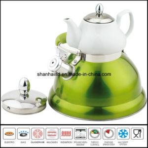 3L+0.75L Double Whistle Kettle with Ceramic Tea Pot Multi-Functional Kettle pictures & photos