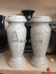 Grey Granite Stone Cemetery Flower Vase pictures & photos