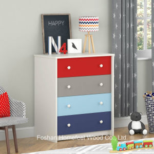 Colorful Kids 4 Drawer Bedroom Storage Cabinet (HC01) pictures & photos