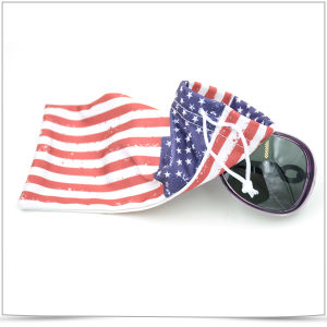 Full Version Logo Printed Microfiber Sunglasses Pouch pictures & photos