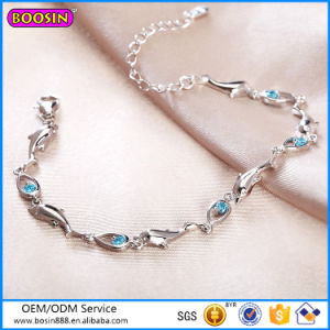 Fashion Blue Diamond Bracelet Sterling Silver Jewelry Wholesale # P3003 pictures & photos