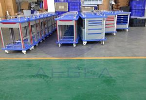 Factory Wholesale Central Locking Medical ABS Anesthesia Trolley (AG-AT007B3) pictures & photos