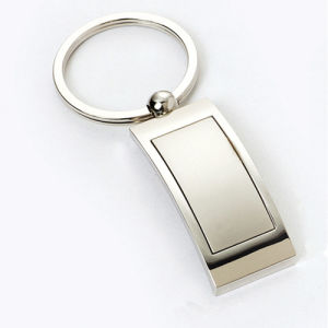 Promotion Zinc Alloy Shiny Nickel Keychain with Customer Logo (F1173) pictures & photos