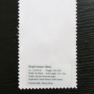 Bright White Polyester Fabric Digital Solvent Printing Banner Material pictures & photos