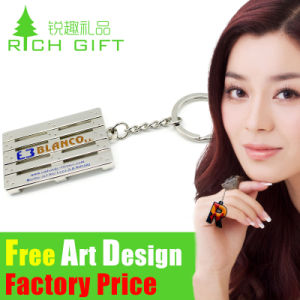 Promotion Gift Customized Design Decoration Metal Keychain Embroidered pictures & photos
