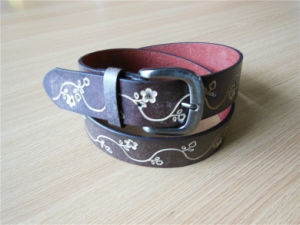 Newest Women′s Embossed Belt PU Belt -Jbe1611 pictures & photos