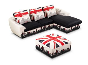British Style Sofa with Chaise Lz085 pictures & photos