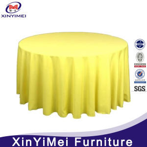 High Quality Customized Fashionable Stylish Plain Polyester Table Cloth for Dining/Wedding pictures & photos