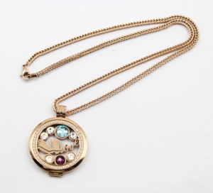 Hot Sale Rose Gole Stainless Steel Floating Locket Pendant Necklace pictures & photos