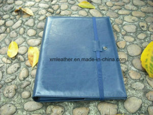 Hot Selling A4 Compendium PU Leather Conference File Folder with Card Pocket pictures & photos