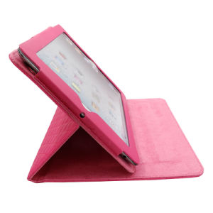 Bracket Lattice PU Leather Cases for Tablet pictures & photos