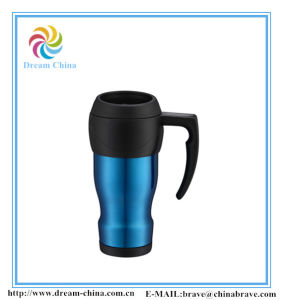 Colorful Style Stainless Steel Car Coffee Mug with Plastic Lid pictures & photos