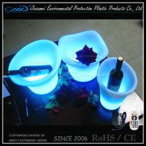 Beer Bottle Ice Bucket with LED Lights pictures & photos