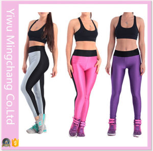 2016 Latest Plus Size Spell Color Women Sport Yoga Pants pictures & photos