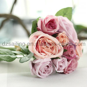 Hot Selling Royal Wedding Rose Bouquets Artificial Flower for Decoration (SF12495) pictures & photos