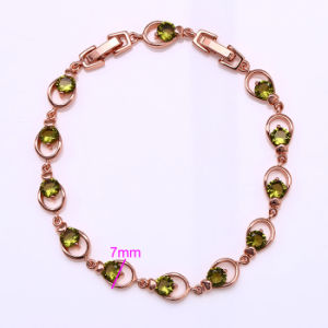 Xuping Elegant Rose Gold Color Bracelet (72548) pictures & photos