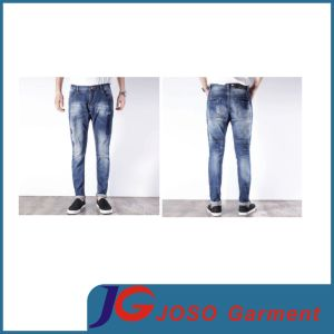 Straight Denim Ripped Jeans Cloting for Men (JC3384) pictures & photos