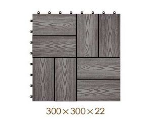 300*300*22mm Decorative WPC DIY Floor Tile for Swimming Pool pictures & photos