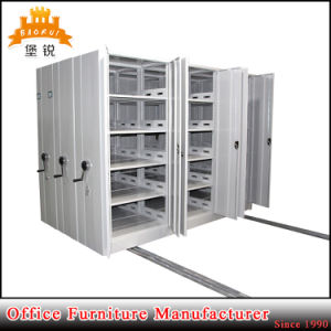 Jas-070 Library Steel Compact Shelf Mobile Steel Compact Shelving for Archive pictures & photos