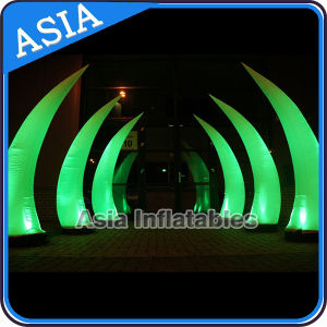 LED Light Inflatable Tube and Cone, Inflatable Wedding Decoration Tusk pictures & photos