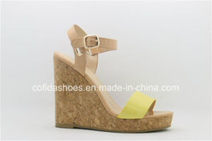 Fashion Comfort High Wedge Heels Women Sandal pictures & photos