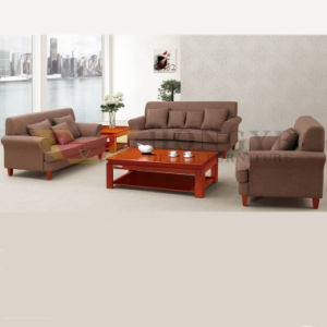 Classical Comfortable Wooden Office Fabric Sofa (HY-NNH-S18) pictures & photos