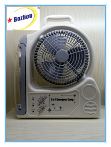 Rechargeable Desk Fan with Emergency Light pictures & photos