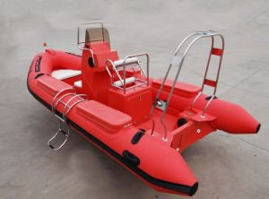 4.2m High Quality Fiberglass Rowing Boat Inflatable Boat Small Rib pictures & photos