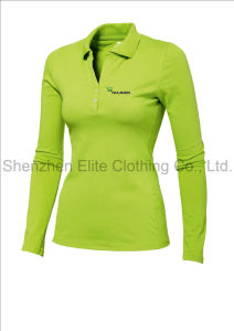 Slim Fit Long Sleeve Embroidered Polo Tshirt (ELTWPJ-410) pictures & photos