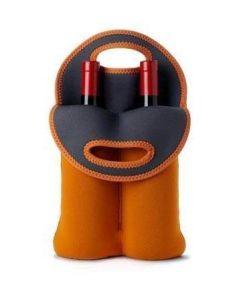 Neoprene Two Bottle Wine Tote Bag