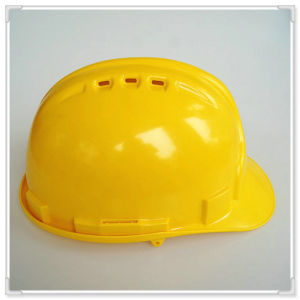 Yellow Safety Helmet Ce En397 Ansiz89.1 with Ratchet Adjuster pictures & photos