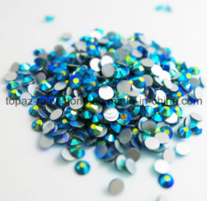 High Quality Flat Back Non Hotfix Crystal Rhinestone for Nail (FB-SS16/ blue AB) pictures & photos