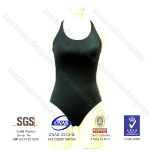 Hot Sell Fashion Scoop Lycra One-Piece pictures & photos