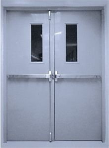 China 90min steel fire door with vision panel china for Door vision panel