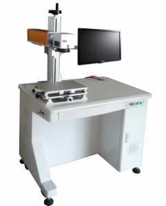 Brass Laser Engraving Machine/Logo Laser Marking Machine for Brass pictures & photos