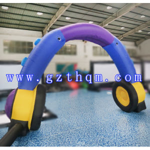Outdoor Advertising Christmas Inflatable Arch/Airtight Style Race Arch Inflatable pictures & photos