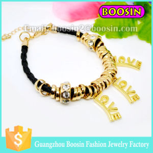 New Wrap Rope Jewelry Gemstone Gold Love Bracelet for Women pictures & photos