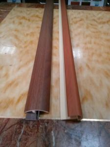 8mm Laminate Flooring T-Moulding Accessories PVC Wearable Wood Coated pictures & photos
