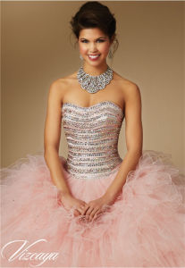 Bra Diamond Beaded Cocktail Dress Quinceanera Prom Dress pictures & photos