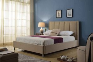 Hotel Modern Fabric Popular Fulvous Home Bedroom Furniture
