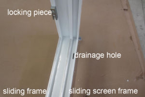 2 Panel PVC Sliding Windows with Roto Handle pictures & photos