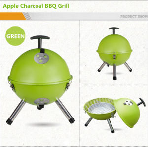 12′′/14′′ Portable Mini Football Apple Design Charcoal BBQ Grill pictures & photos