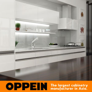 Oppein Hot Sale Modern High Gloss Lacquer Kitchen Cabinets (OP16-L09) pictures & photos